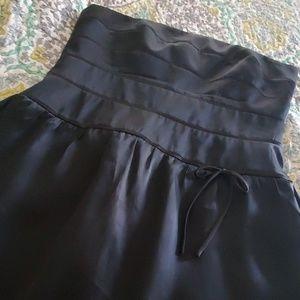Beautiful black silk semi formal tea length dress